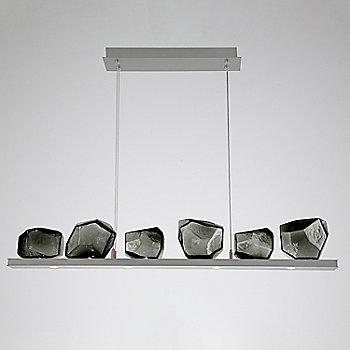 Smoke Glass shade / Satin Nickel finish / 6 Light