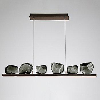 Smoke Glass shade / Flat Bronze finish / 6 Light