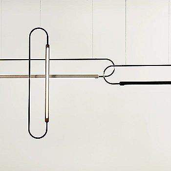 Metal: Brass / Oak: White / 6 ft / Horizontal Position