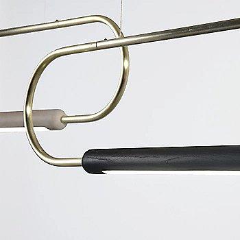 Metal: Brass / Oak: Black / 3 ft / Horizontal Position / Detail view