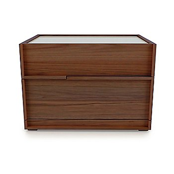 Natural Walnut Wood finish / Glass/ Clay Lacquer top finish