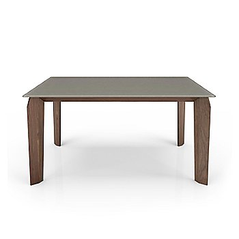 Fog Glass Top color /  Light Natural Walnut Wood Base finish / Small size