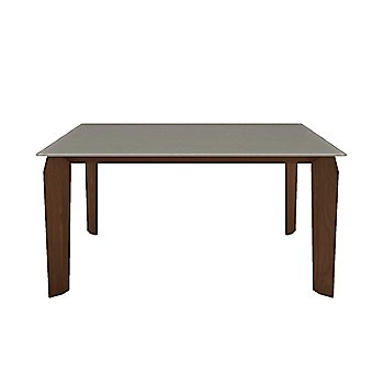 Fog Glass Top color / Natural Walnut Wood Base finish / Small size