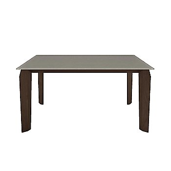 Fog Glass Top color / Tobacco Walnut Wood Base finish / Small size