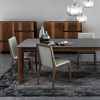 Nubia 010 upholstery / Light Natural Walnut finish, in use