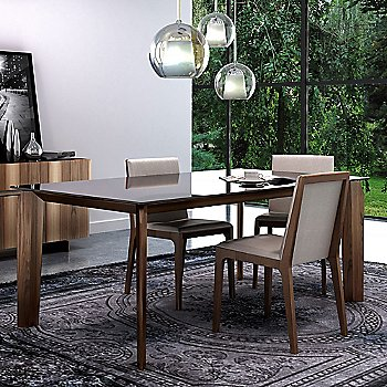 Nubia 010 upholstery / Light Natural Walnut finish , in use