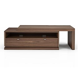 ESCAPE Media Unit with Wood L Top