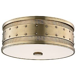 Gaines Flushmount (Aged Brass/Large) - OPEN BOX RETURN
