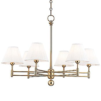 6 Light / Aged Brass finish