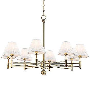 8 Light / Aged Brass finish