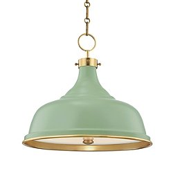 Painted Pendant Light