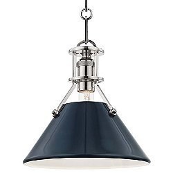 Painted Cone Pendant Light