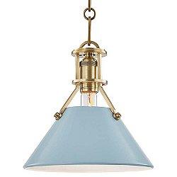 Painted Cone Pendant Light