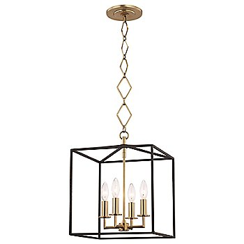Aged Brass/Textured Black finish / 4 Lights