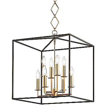 Aged Brass/Textured Black finish / 8 Lights
