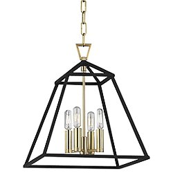 Webster 4-Light Pendant Light (Aged Brass/4)-OPEN BOX RETURN