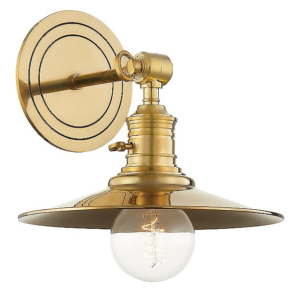 Garden City Exposed Bulb Wall Sconce