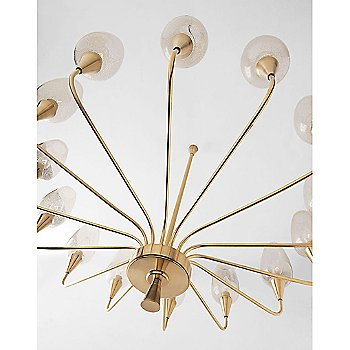 Shown in Aged Brass finish,  14 Lights