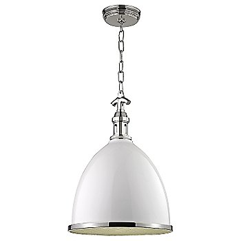 White with Polished Nickel finish / Small size