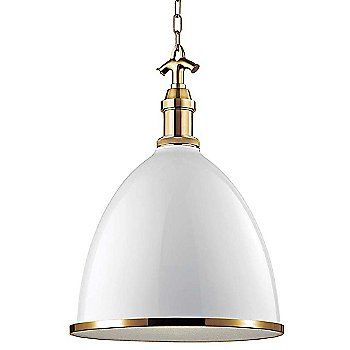 White with Aged Brass finish / Large size