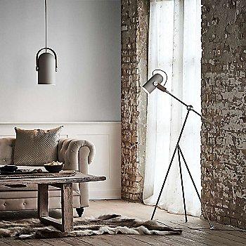 Carronade Spot Pendant with Carronade Adjustable Floor Lamp