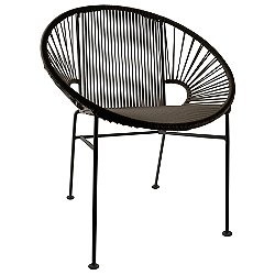 Concha Chair by Innit Designs (Black/Black) -OPEN BOX RETURN