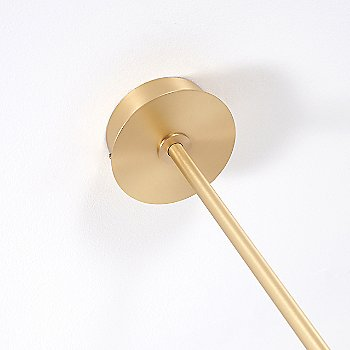 Brushed Brass finish, Canopy detail