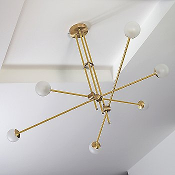 Brushed Brass Canopy/Accent Finish / Brushed Brass Finish