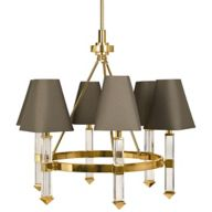 Brass Chandeliers with Shades