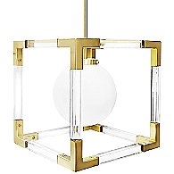 Jacques Pendant (Brushed Brass&Clear Lucite)-OPEN BOX RETURN