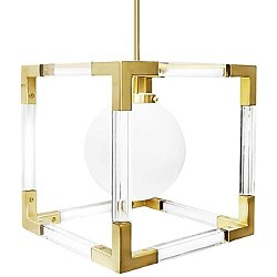 Jacques Pendant (Brushed Brass & Clear Lucite) - OPEN BOX