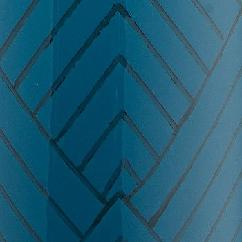 Blue Chevron Ceramic finish, detail