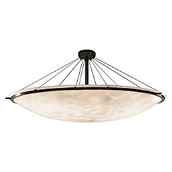 Clouds 72-Inch Round Bowl w/ Ring Semi-Flush Mount Ceiling Light