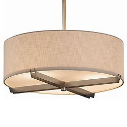 Textile Crossbar Drum Pendant Light