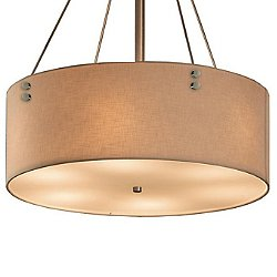 Textile Finials Drum Pendant Light