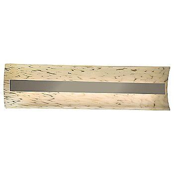 Droplet shade / Brushed Nickel finish / 21 Inch size