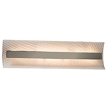 Weave shade / Brushed Nickel finish / 21 Inch size