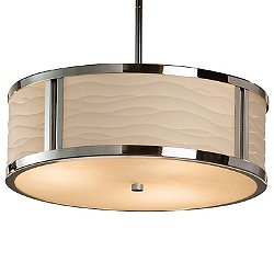 Porcelina Tribeca Drum Pendant Light