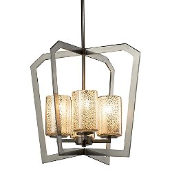 Fusion Aria 4-Light Intersecting Chandelier