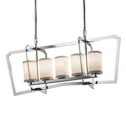 Textile Aria 5-Light Linear Suspension Light