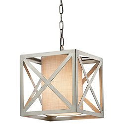 Textile Hexa Cube Drum Pendant Light