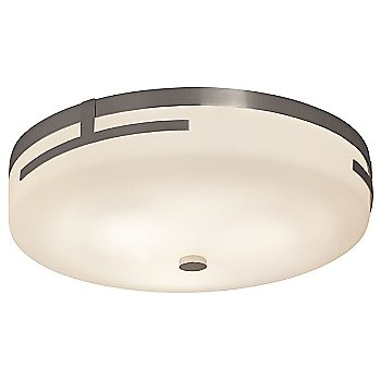 Small size / Brushed Nickel finish / Opal