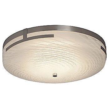 Large size / Brushed Nickel finish / Weave