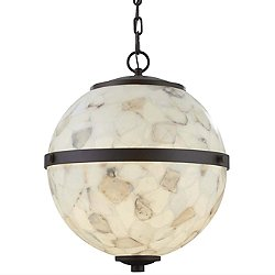 Alabaster Rocks! Imperial Hanging Globe Pendant Light