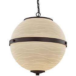Porcelina Imperial Hanging Globe Pendant Light