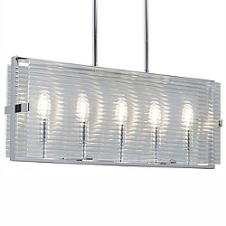 Fusion Optic Five Light Linear Suspension Light