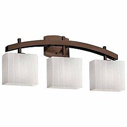 Fusion Archway Bath Bar(Ribbon/Bze/Incand/3 Lights)-OPEN BOX