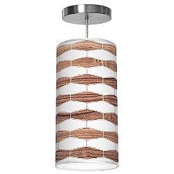 Weave 3 Column Pendant Light (Walnut/16 Inch) - OPEN BOX