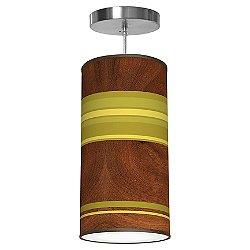 Horizontal Stripey Column Pendant (Green/Medium) - OPEN BOX