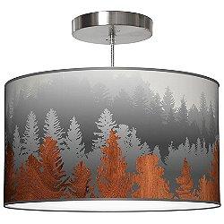 Treescape Drum Pendant Light